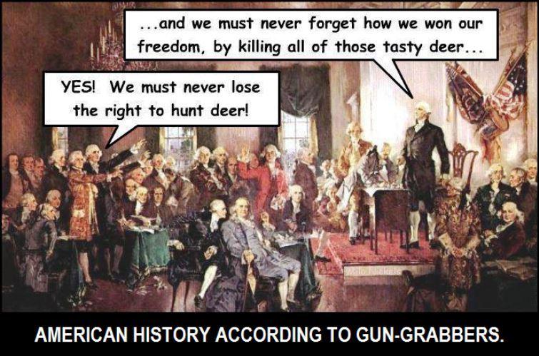 AMERICAN HISTORY ACCORDING TO GUN-GRABBERS