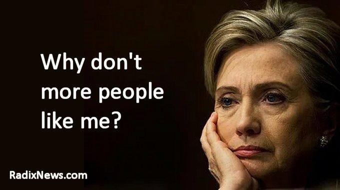 Hillary is sad
