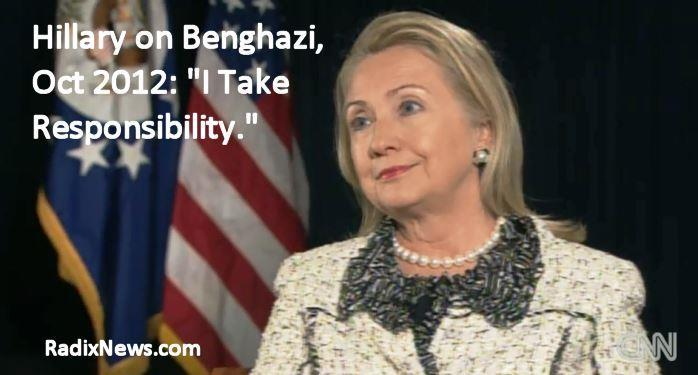 Hillary takes responsibility