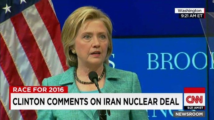 Hillary supports Iran nuclear deal